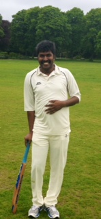 Jayaraj Raj after his knock of 42 v Crathie.