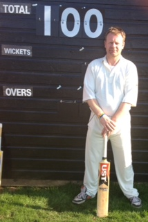 Rob Owen after scoring his first century for Portcullis